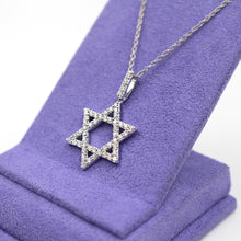 Load image into Gallery viewer, Star of David Diamond Pendant Necklace