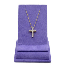 Load image into Gallery viewer, 18k Gold & Diamond Cross Pendant Necklace