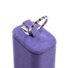 Load image into Gallery viewer, Rubies & Diamonds White Gold Ring