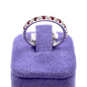 Rubies & Diamonds White Gold Ring
