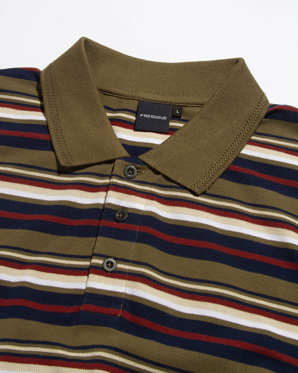 BULLOCKS STRIPE POLO TAN
