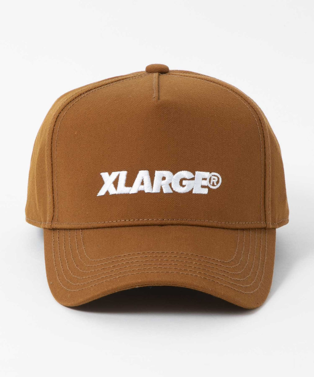 EMBROIDERY STANDARD LOGO TRUCKER CAP - BROWN
