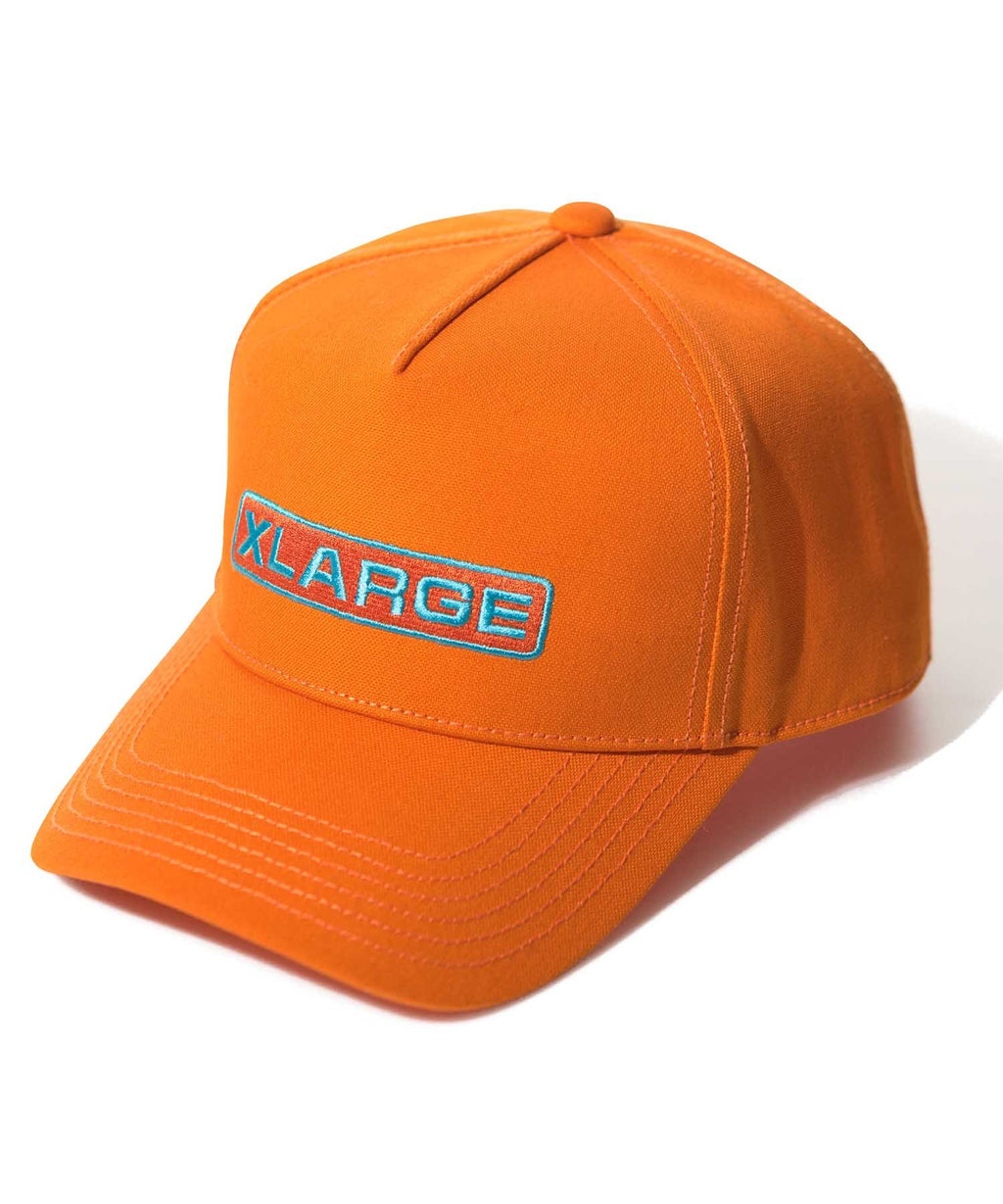 ROUNDED LOGO TRUCKER CAP - ORANGE