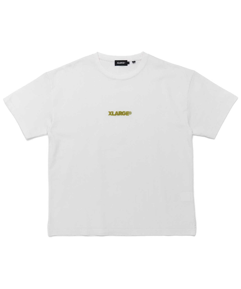 S/S TEE EMBROIDERY STANDARD LOGO 2 - WHITE
