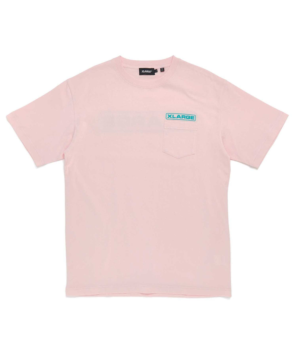 S/S ROUNDED LOGO POCKET TEE - PINK