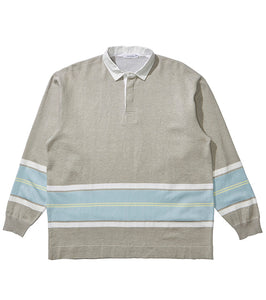 NANAMICA M'S SWEATERS LIGHT GREY S RUGGER SWEATER