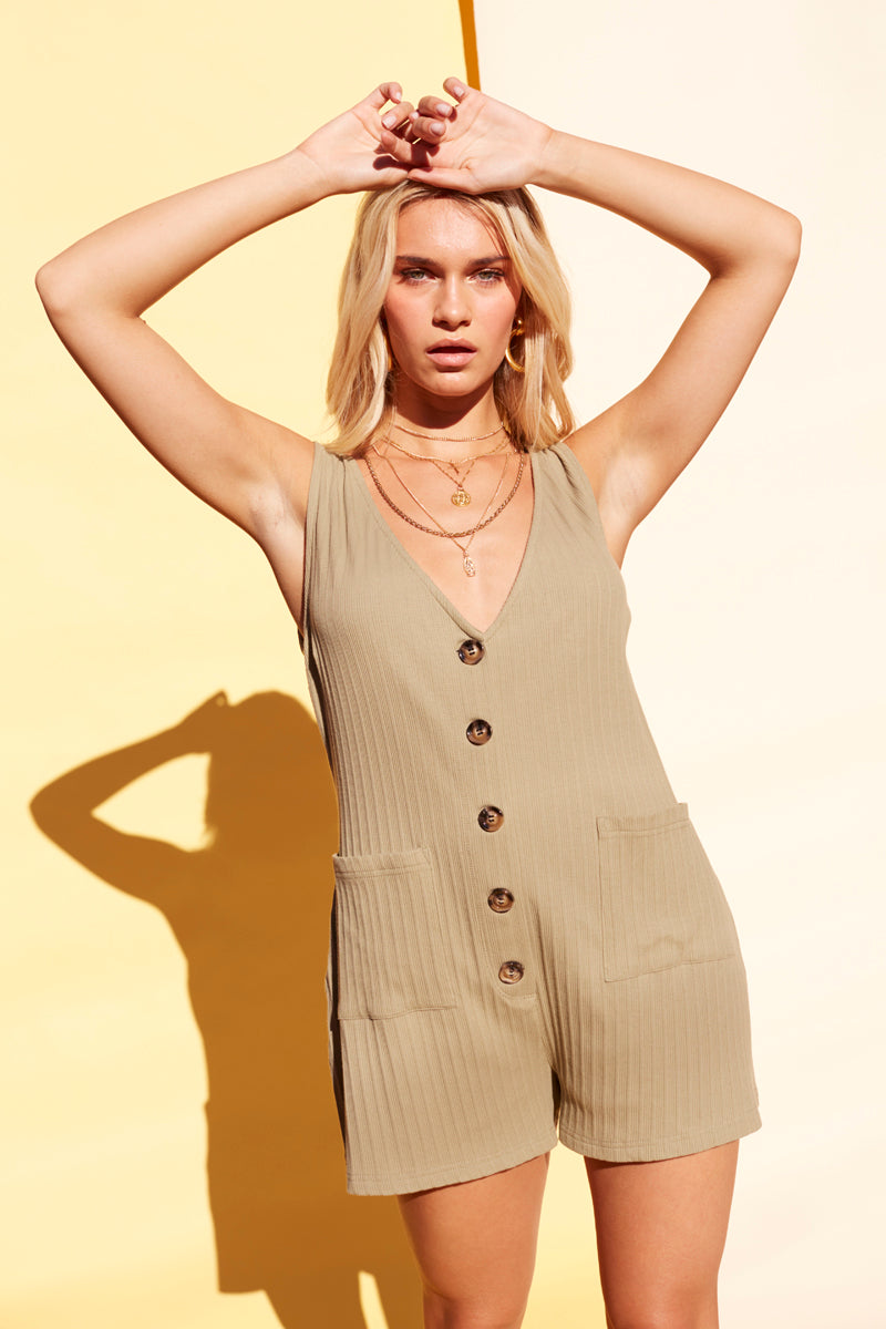 BUTTON UP PLAYSUIT