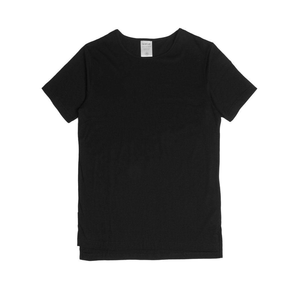 FAIRPLAY M'S T-SHIRTS BLACK S 05 - OFFICIAL S/S ELONGATED TEE