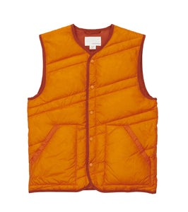 NANAMICA M'S OUTDOOR VEST ORANGE S DOWN VEST