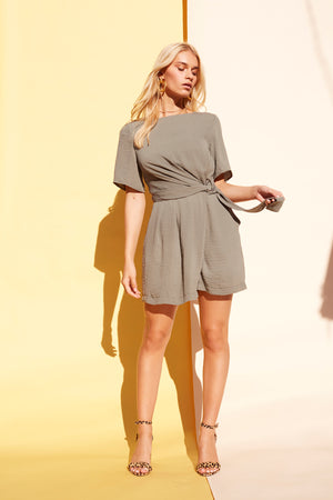 D-RING WAIST STRAP PLAYSUIT