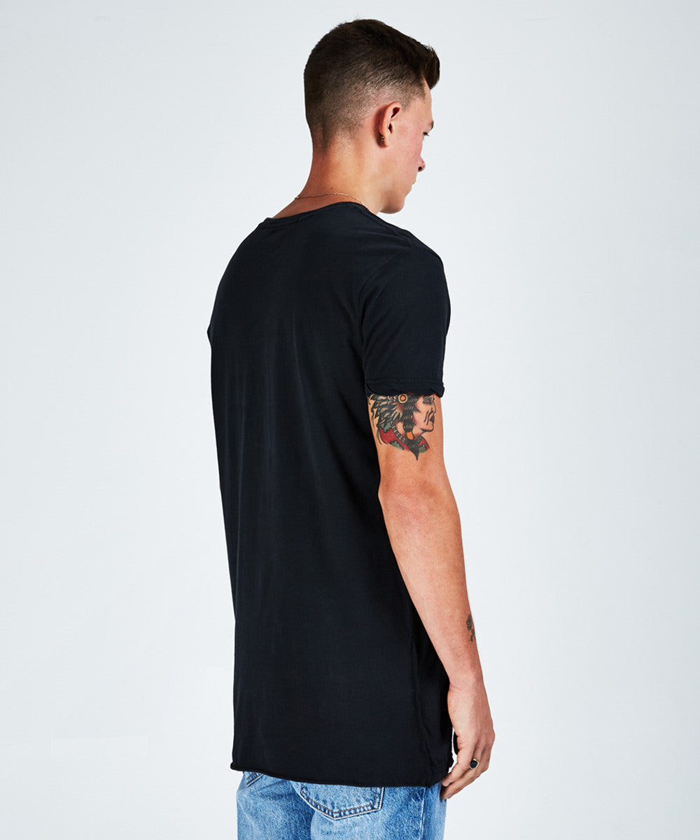 SEEING LINES SHORT SLEEVE T-SHIRT - BLACK