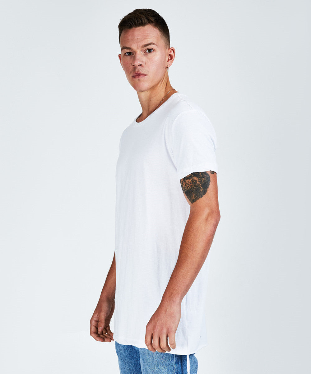 SEEING LINE SHORT SLEEVE T-SHIRT - WHITE