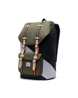 HERSCHEL BACKPACKS LITTLE AMERICA BACKPACK - BLACK/IVY GREEN