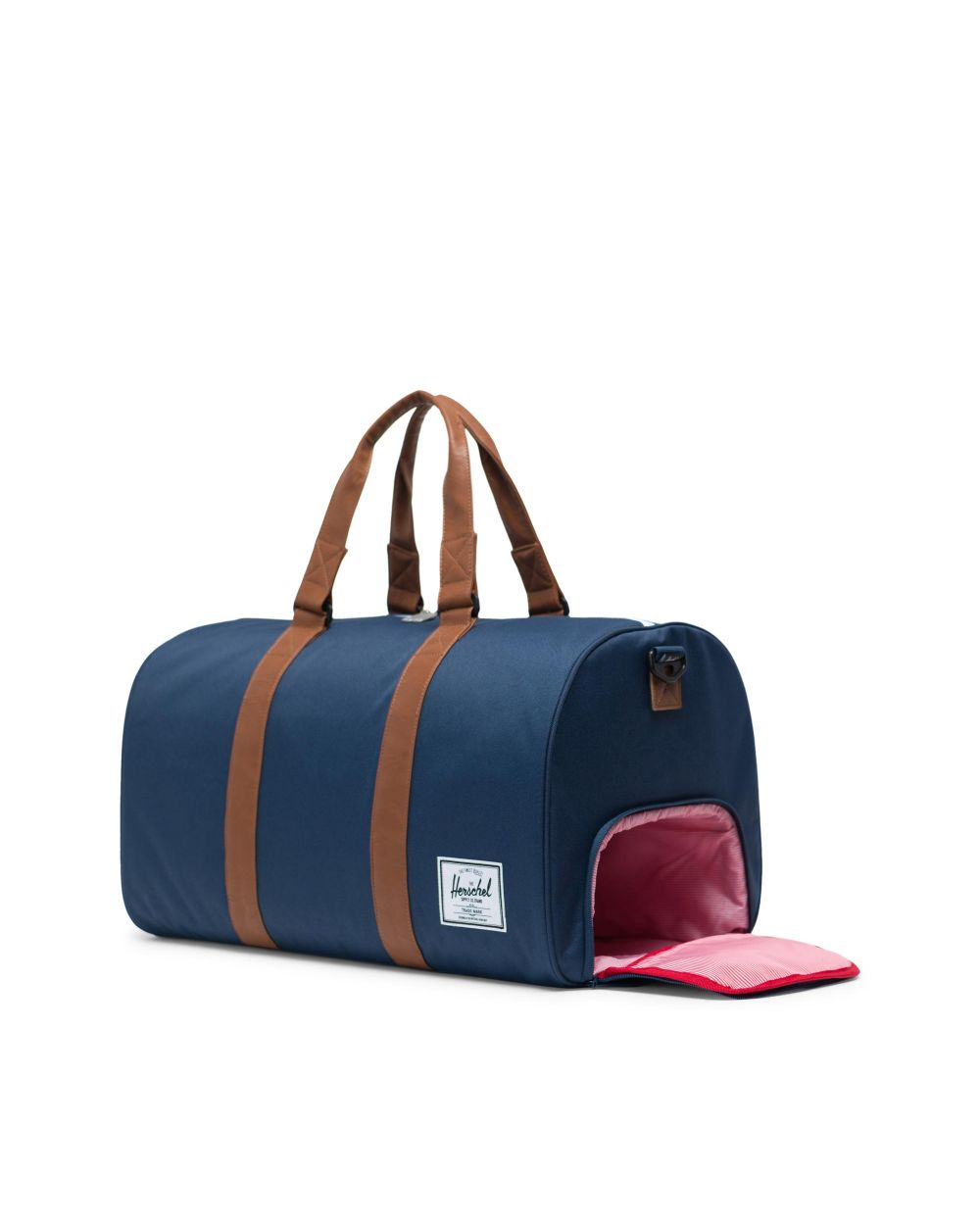 HERSCHEL BACKPACKS NOVEL DUFFLE - NAVY/TAN SYNTHETIC LEATHER