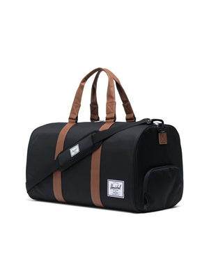 NOVEL DUFFLE - BLACK/TAN SYNTHETIC LEATHER
