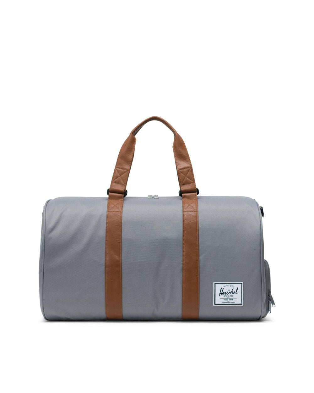 NOVEL DUFFLE - GREY/TAN SYNTHETIC LEATHER