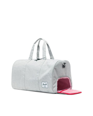 NOVEL DUFFLE - LIGHT GREY CROSSHATCH
