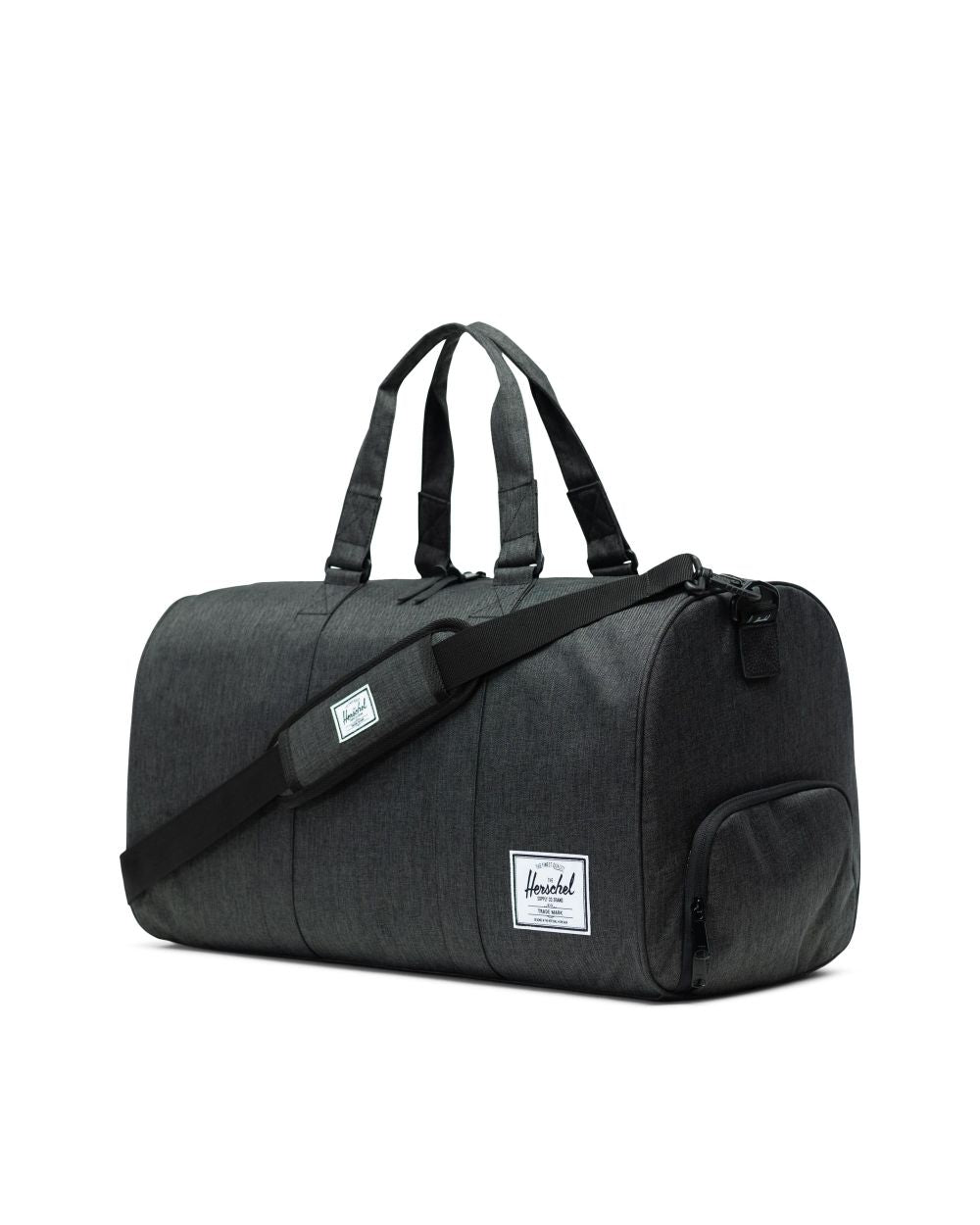 NOVEL DUFFLE - BLACK CROSSHATCH