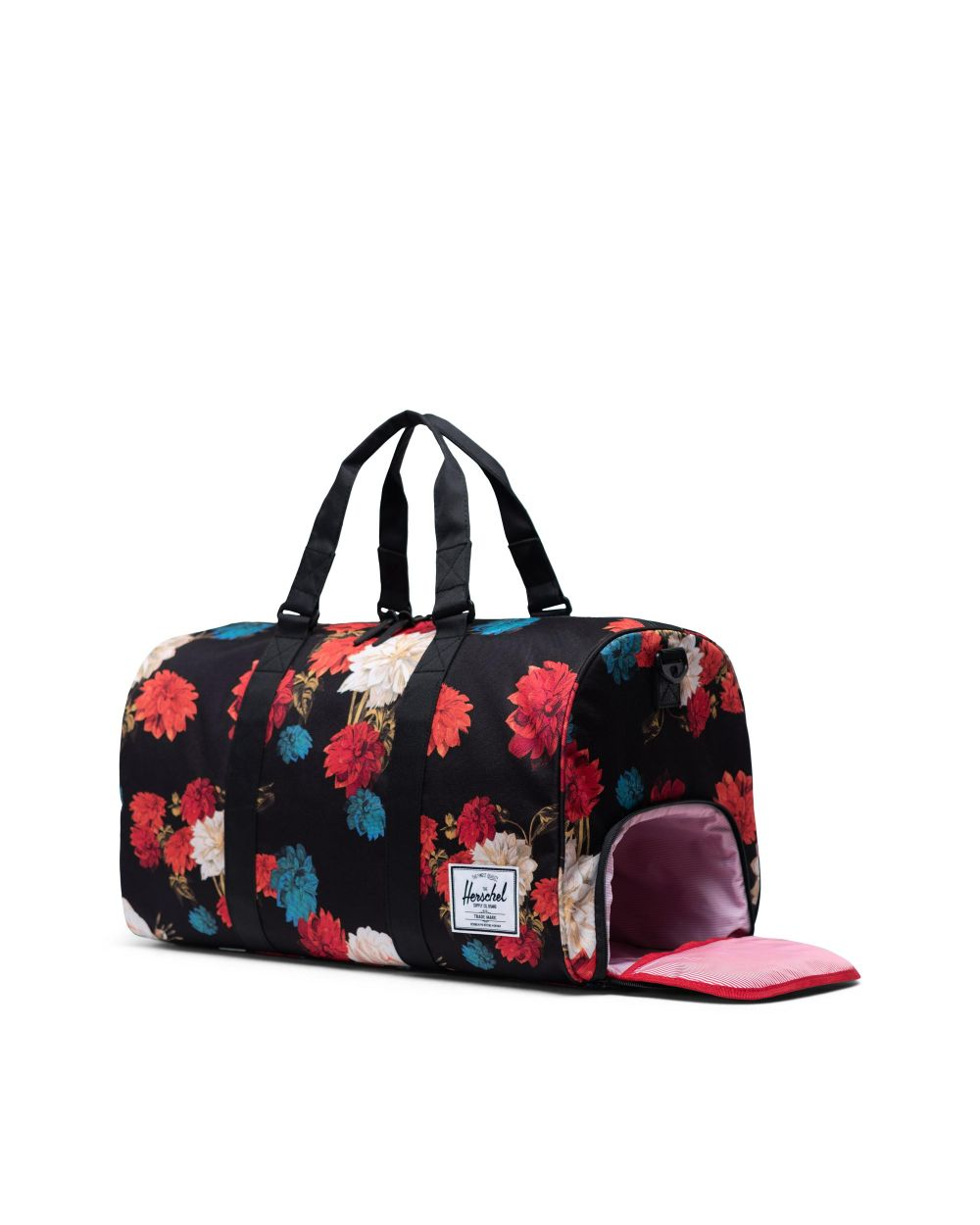NOVEL DUFFLE - VINTAGE FLORAL BLACK