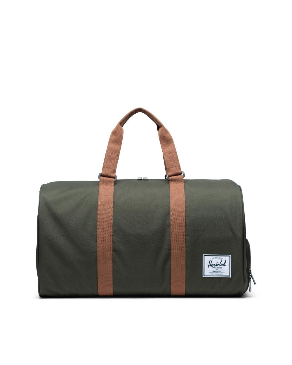 NOVEL DUFFLE - DARK OLIVE/SADDLE BROWN