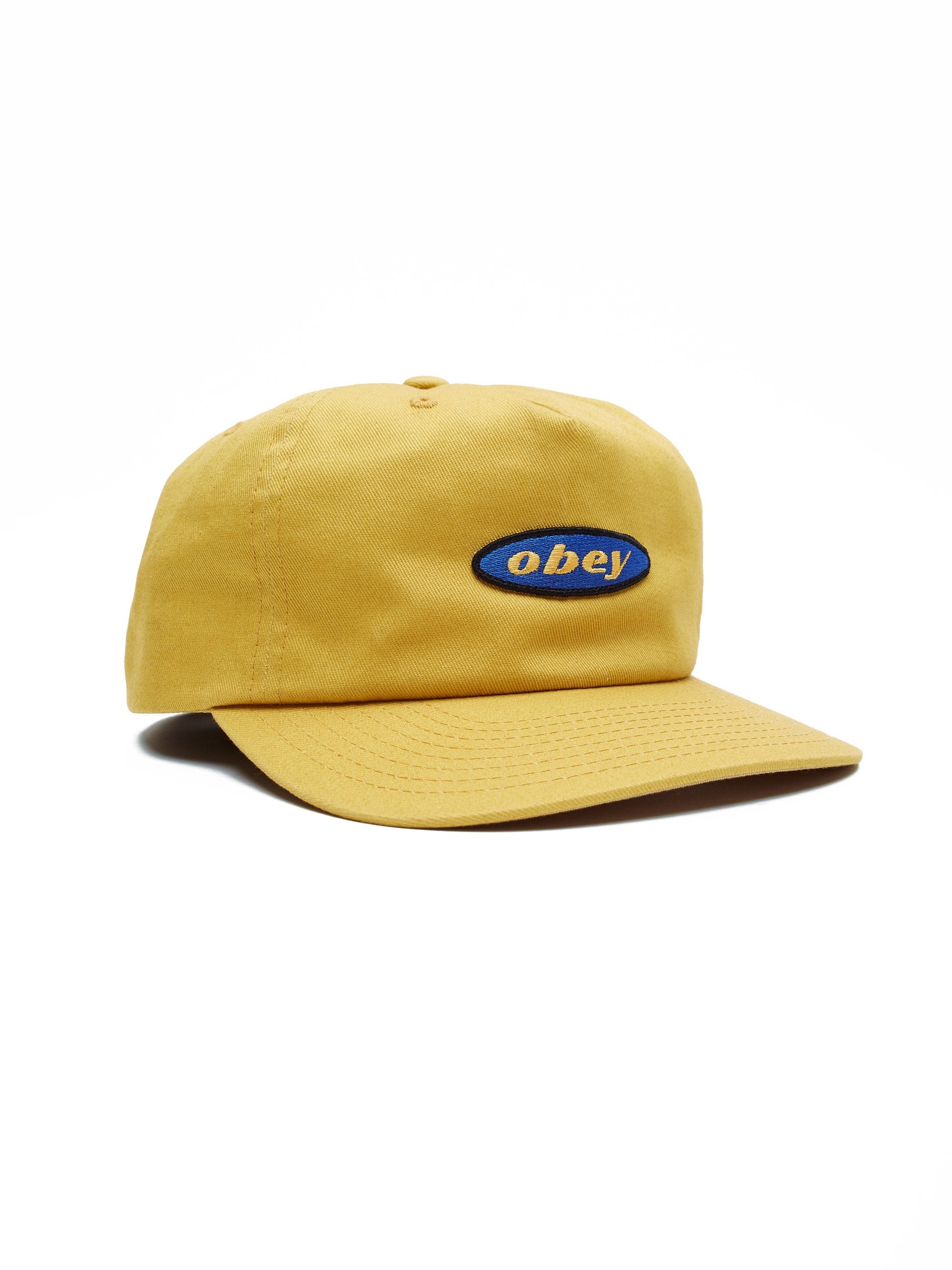 OBEY HATS GOLD O/S ROTATION SNAPBACK - GOLD