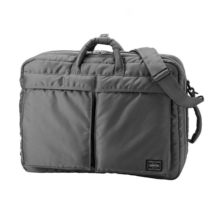 TANKER 3 WAY BRIEFCASE - SILVER