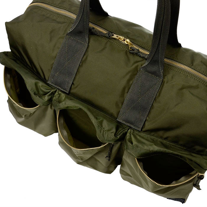 PORTER FORCE 2WAY DUFFLE BAG - OLIVE