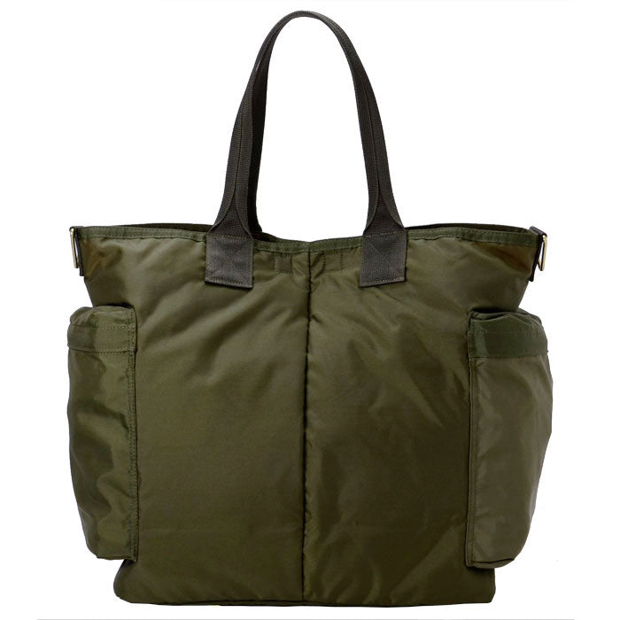 PORTER FORCE 2WAY TOTE BAG - OLIVE