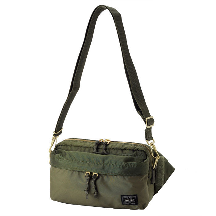 PORTER FORCE 2WAY WAIST BAG - OLIVE
