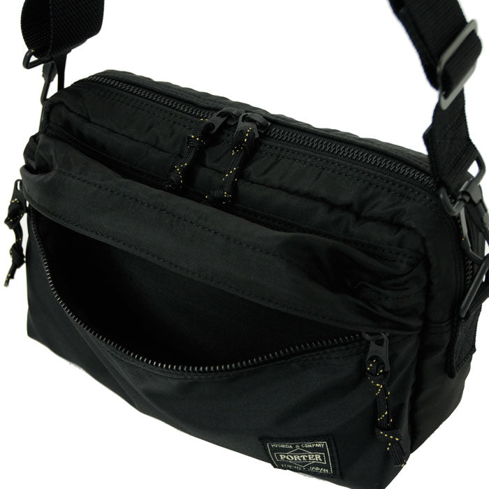 PORTER FORCE 2WAY WAIST BAG - BLACK