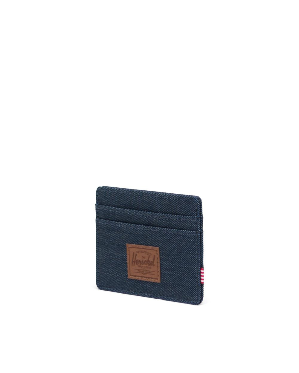 HERSCHEL WALLETS CHARLIE WALLET - INDIGO DENIM CROSSHATCH
