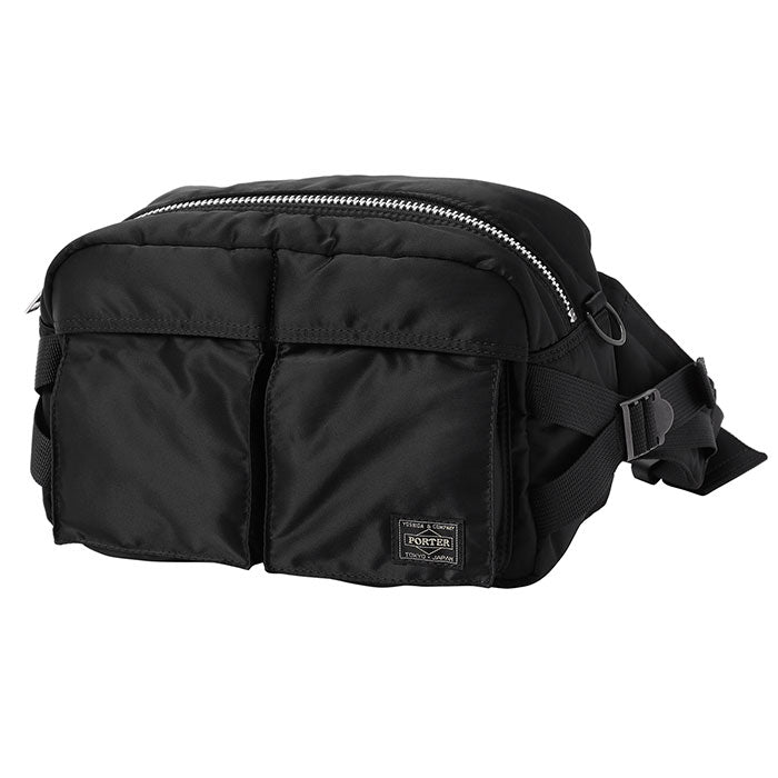 PORTER YOSHIDA BACKPACKS BLACK O/S TANKER 2WAY WAIST BAG