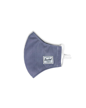 HERSCHEL MASKS CLASSIC FITTED FACE MASK - PEACOAT STRIPE