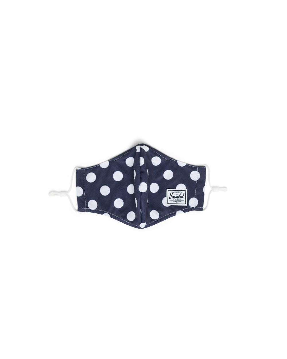 HERSCHEL MASKS CLASSIC FITTED MASK - PEACOAT POLKA DOT