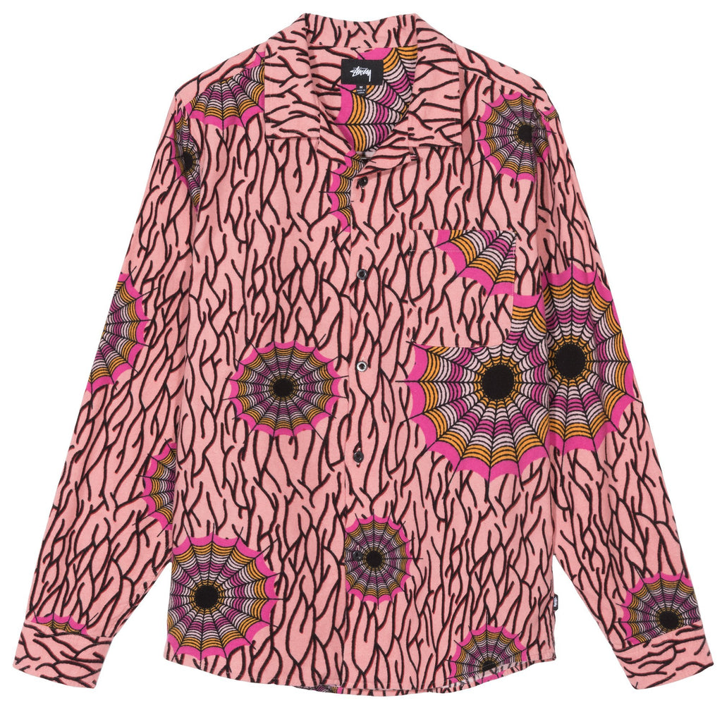 SPIDER WEB FLANNEL SHIRT - PINK