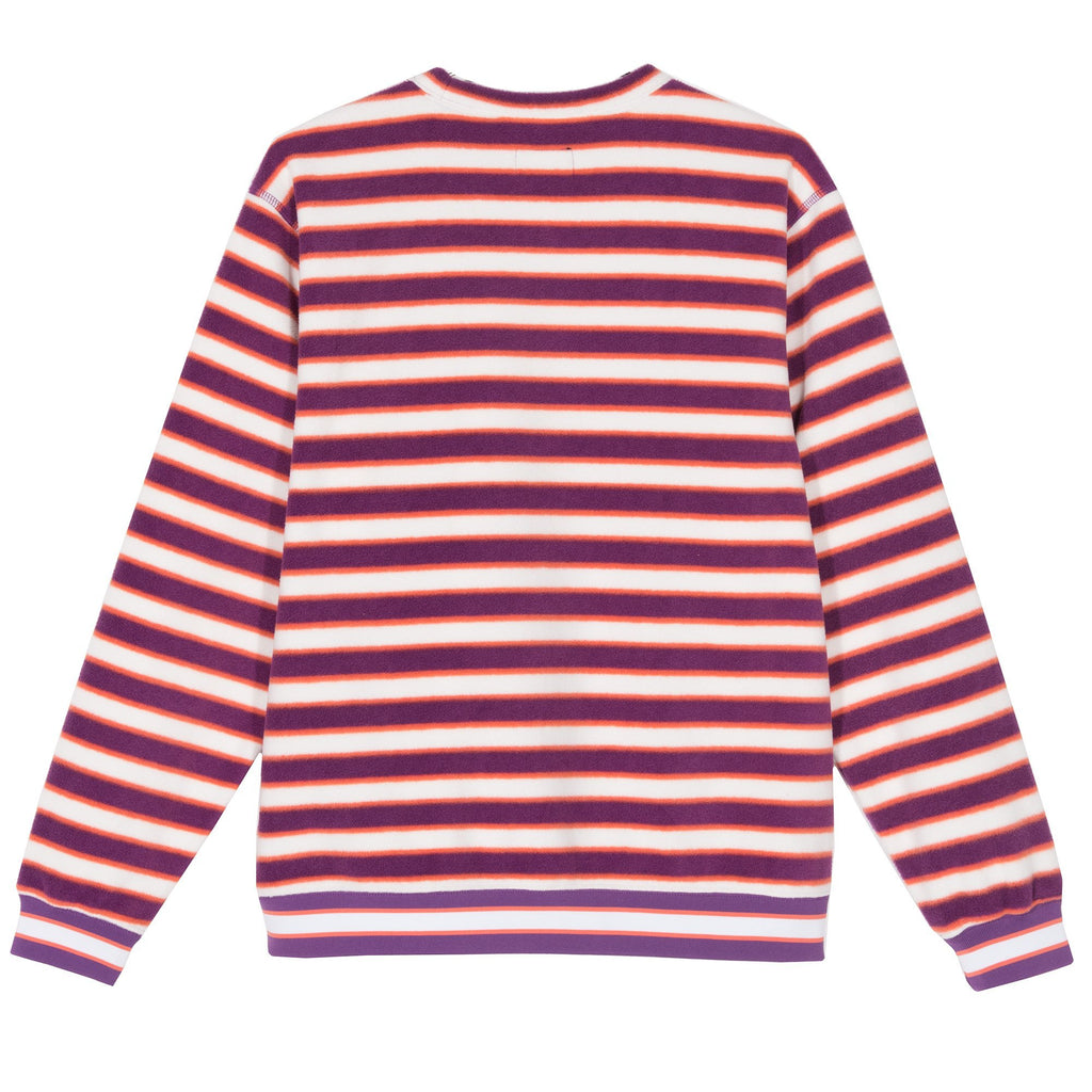 STRIPED POLAR FLEECE CREW