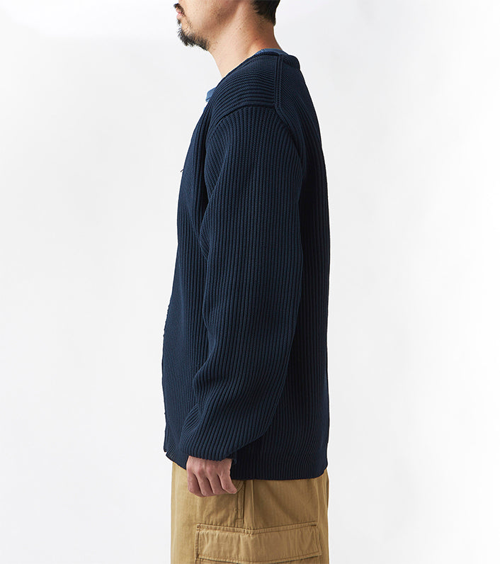 NANAMICA M'S SWEATERS FRONT ZIP CARDIGAN