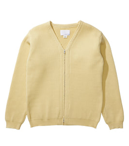 NANAMICA M'S SWEATERS CREAM S FRONT ZIP CARDIGAN