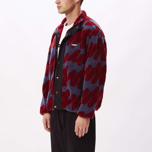 OBEY M'S CASUAL JACKETS HENSE SHERPA JACKET