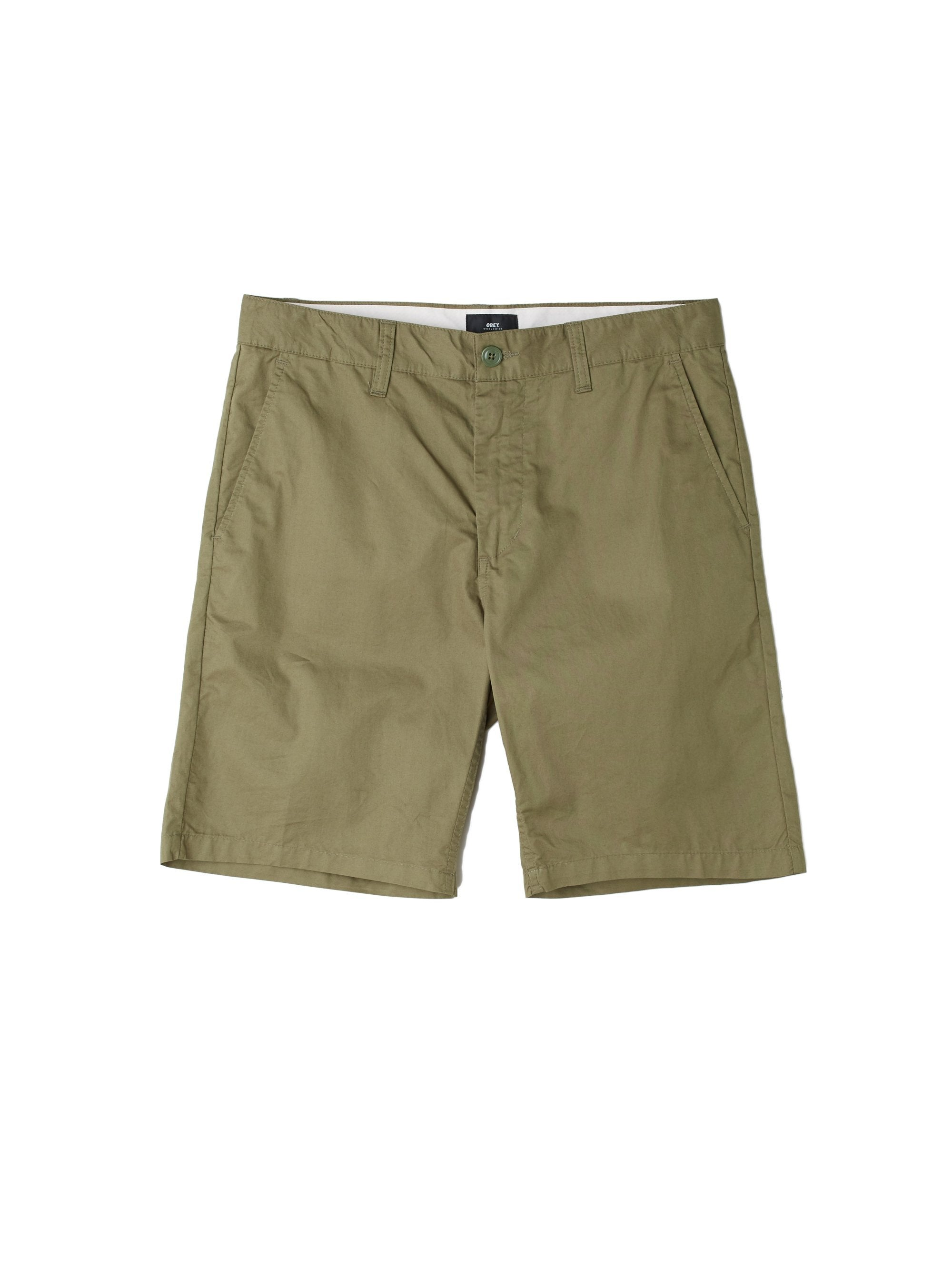OBEY M'S SHORTS ARMY 30 STRAGGLER LIGHT SHORT
