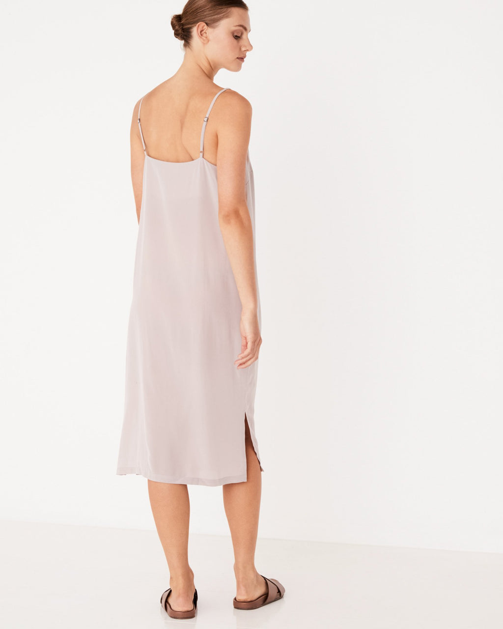 ASSEMBLY LABEL SILK DEEP V CAMI DRESS