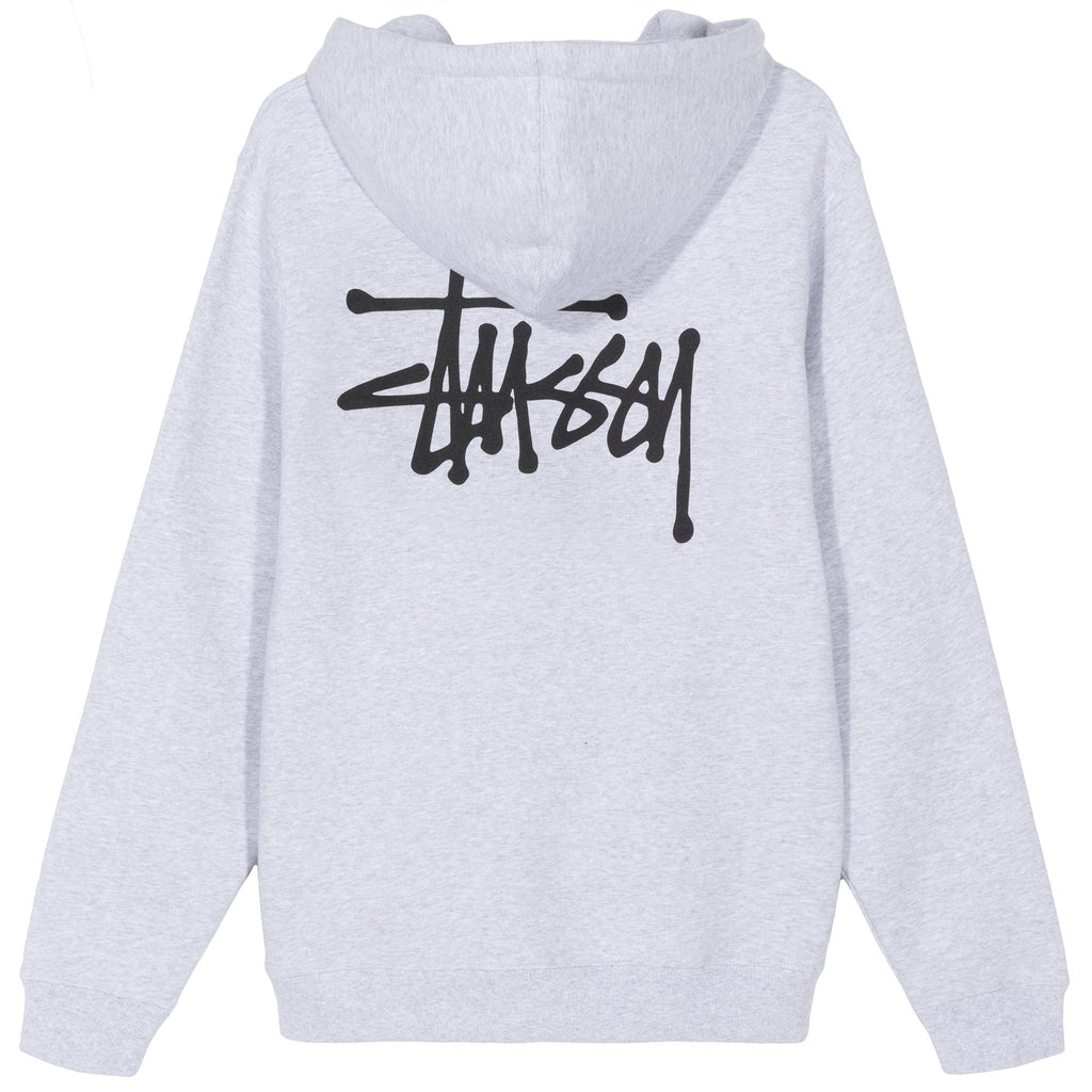 BASIC STUSSY HOOD - ASH HEATHER
