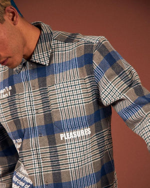 PLEASURES M'S SHIRTS FORCES PLAID OVERSHIRT