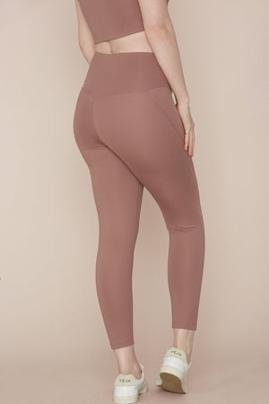 "COMPRESSIVE HIGH-RISE LEGGING 23 3/4"" - ROSE QUARTZ"