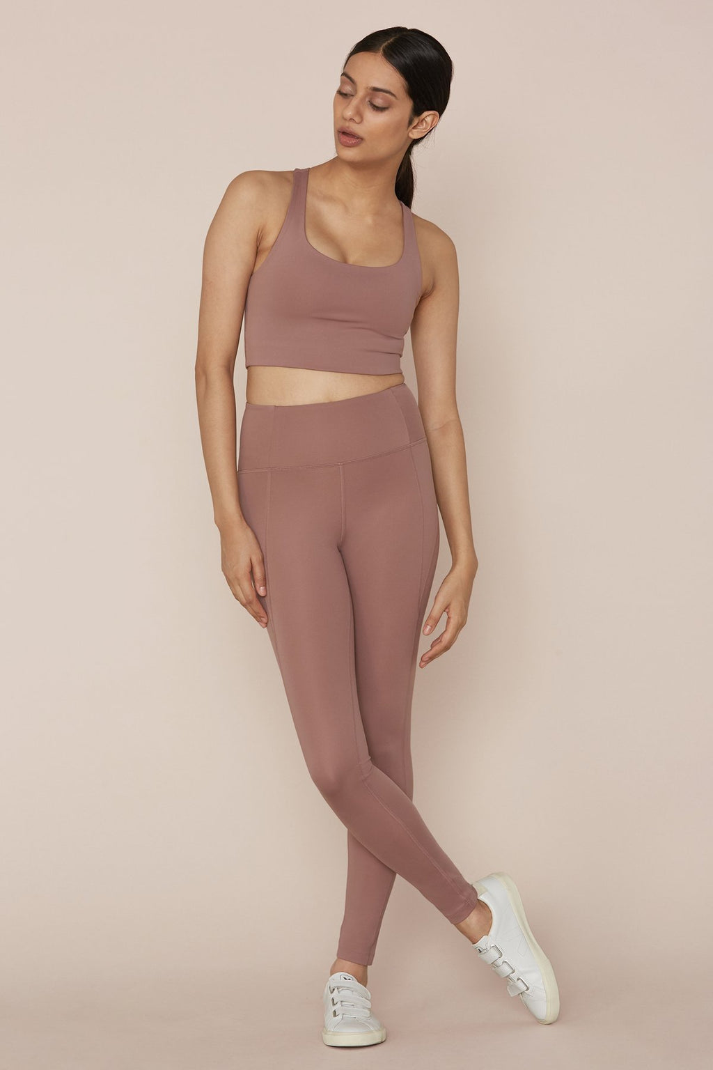 "COMPRESSIVE HIGH-RISE LEGGINGS 28.5"" - ROSE QUARTZ"