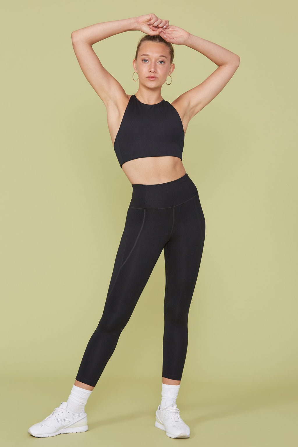 "COMPRESSIVE HIGH-RISE LEGGING 23 3/4"" - BLACK"