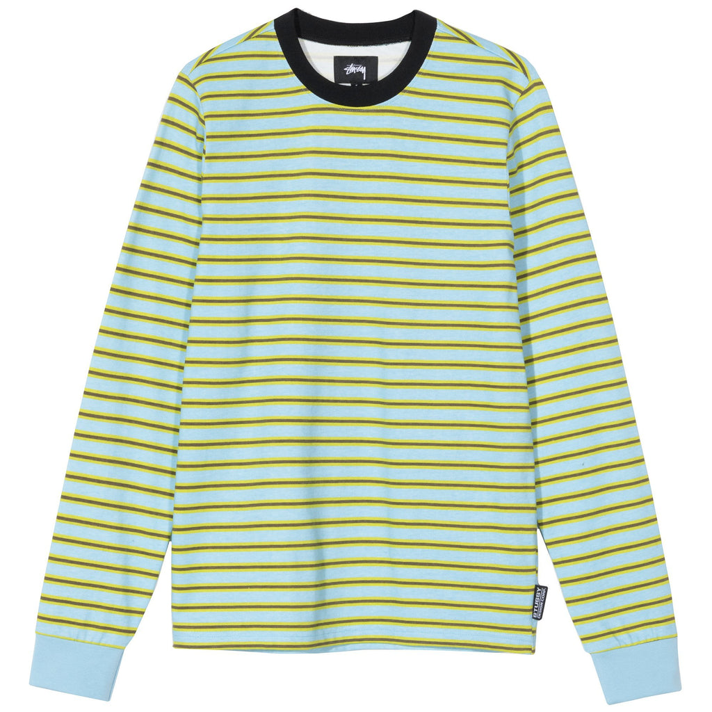 PRINTED STRIPE TEE - BLUE