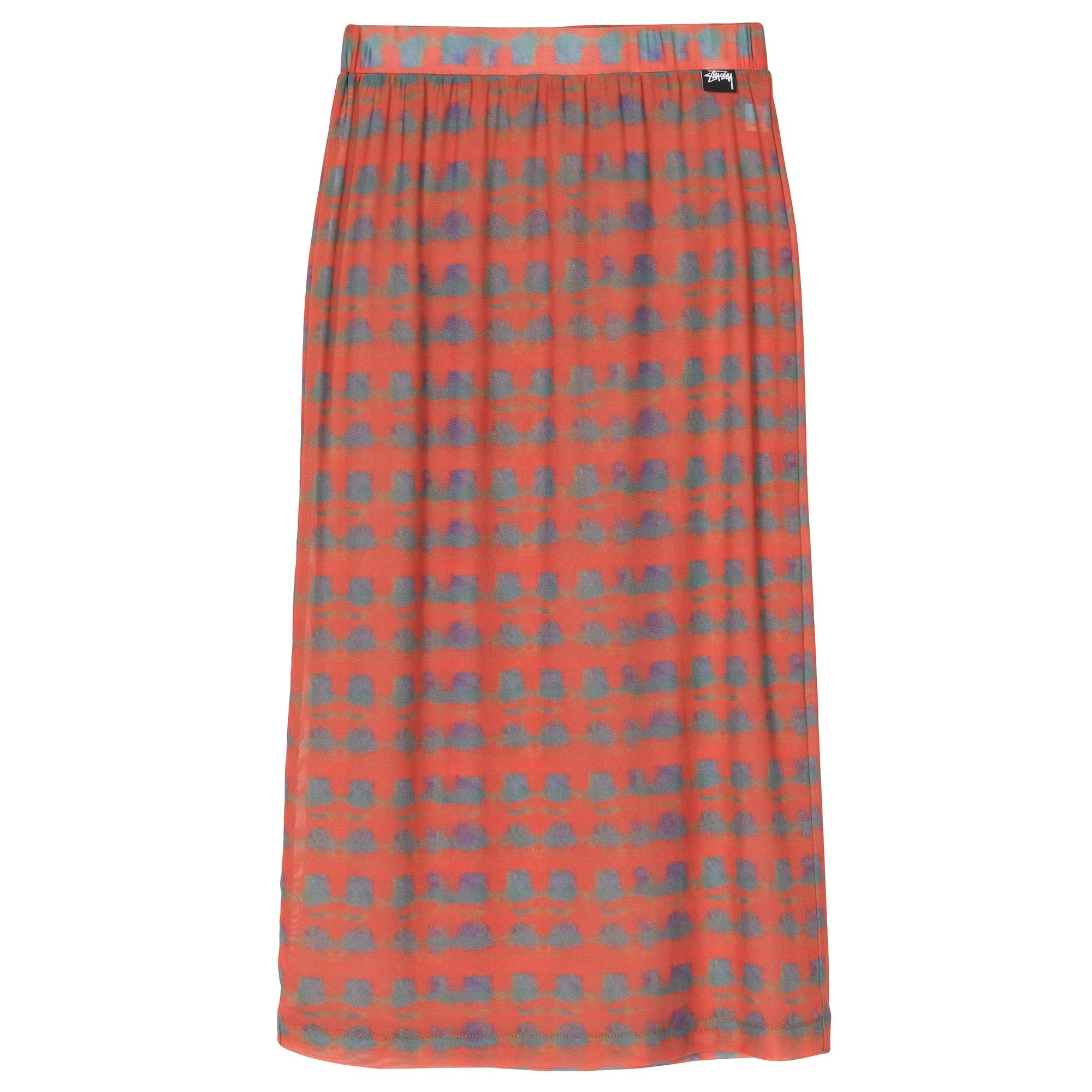 STUSSY W'S SKIRTS PRINTED PLAID MESH TUBE SKIRT