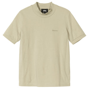 STUSSY W'S SHIRTS SHORT SLEEVE EMBROIDERED MOCK