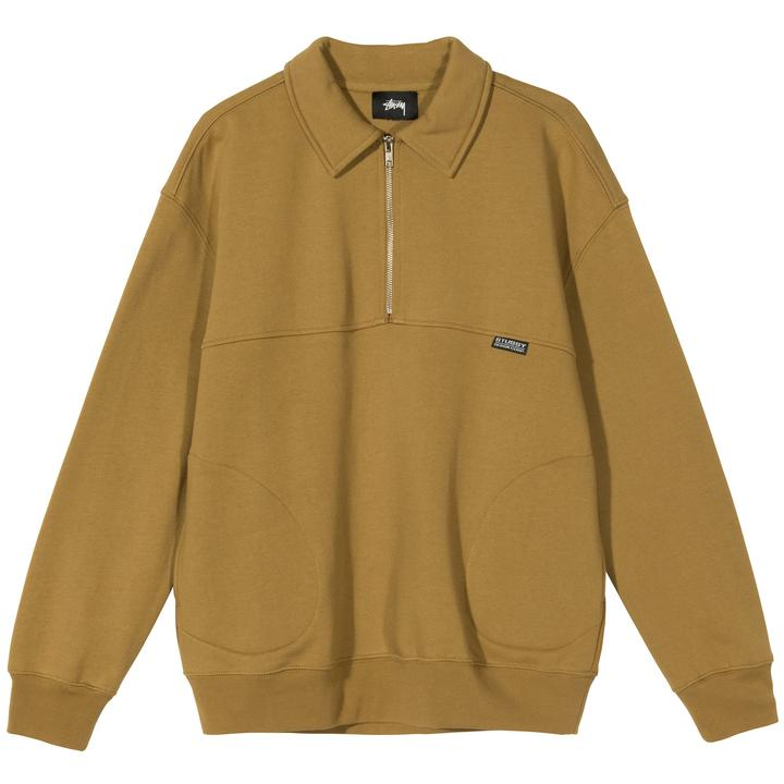 STUSSY W'S SWEATERS W BACK PANELS HALF ZIP